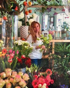 Old Photo of me, starting my Flower Shop in Sotogrande!